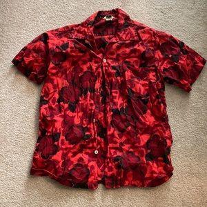 Vintage Red Aloha Shirt
